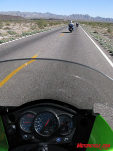 Mexico looks like Arizona for the most part, and highway slogs are nothing new for this LA-resident motorcycle.