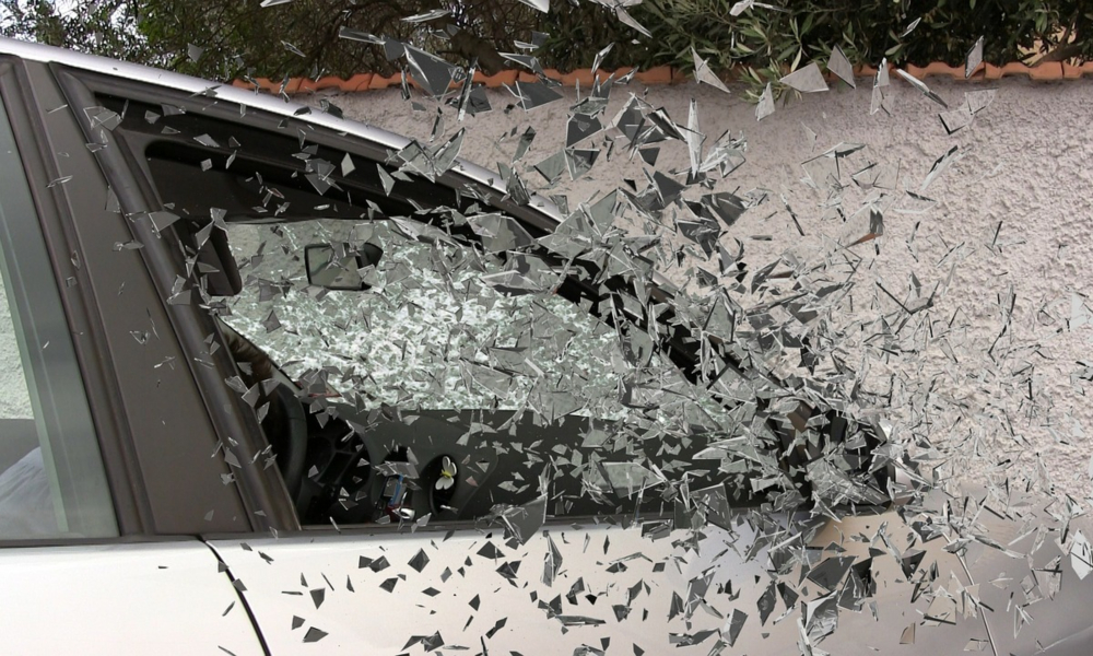 Car Accident - Shattered Glass