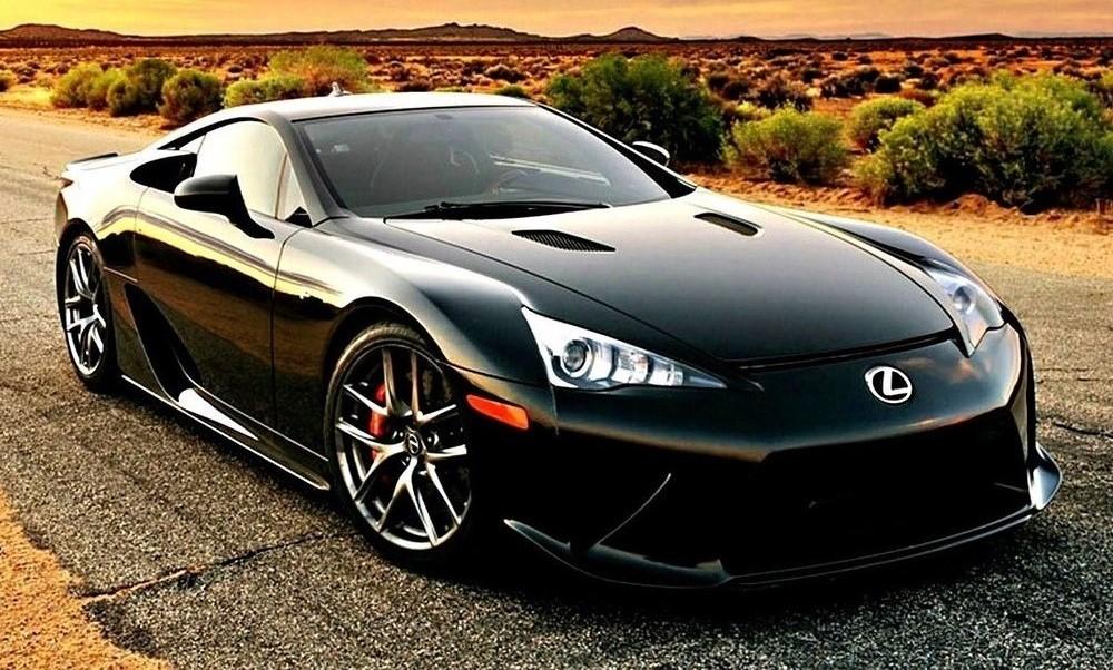 Black Lexus LFA supercar
