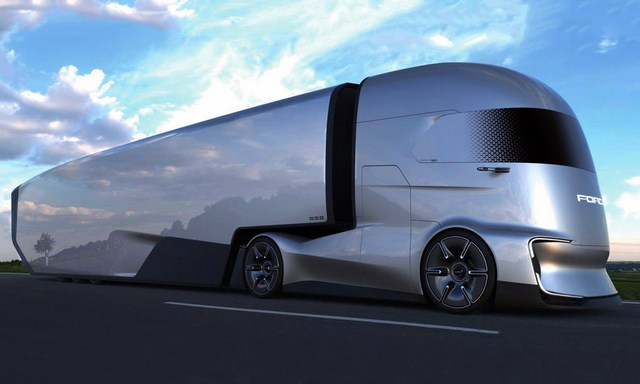 The American automaker had a surprise up its sleeve—its first ever big rig concept truck, the Ford F-Vision Future Truck.