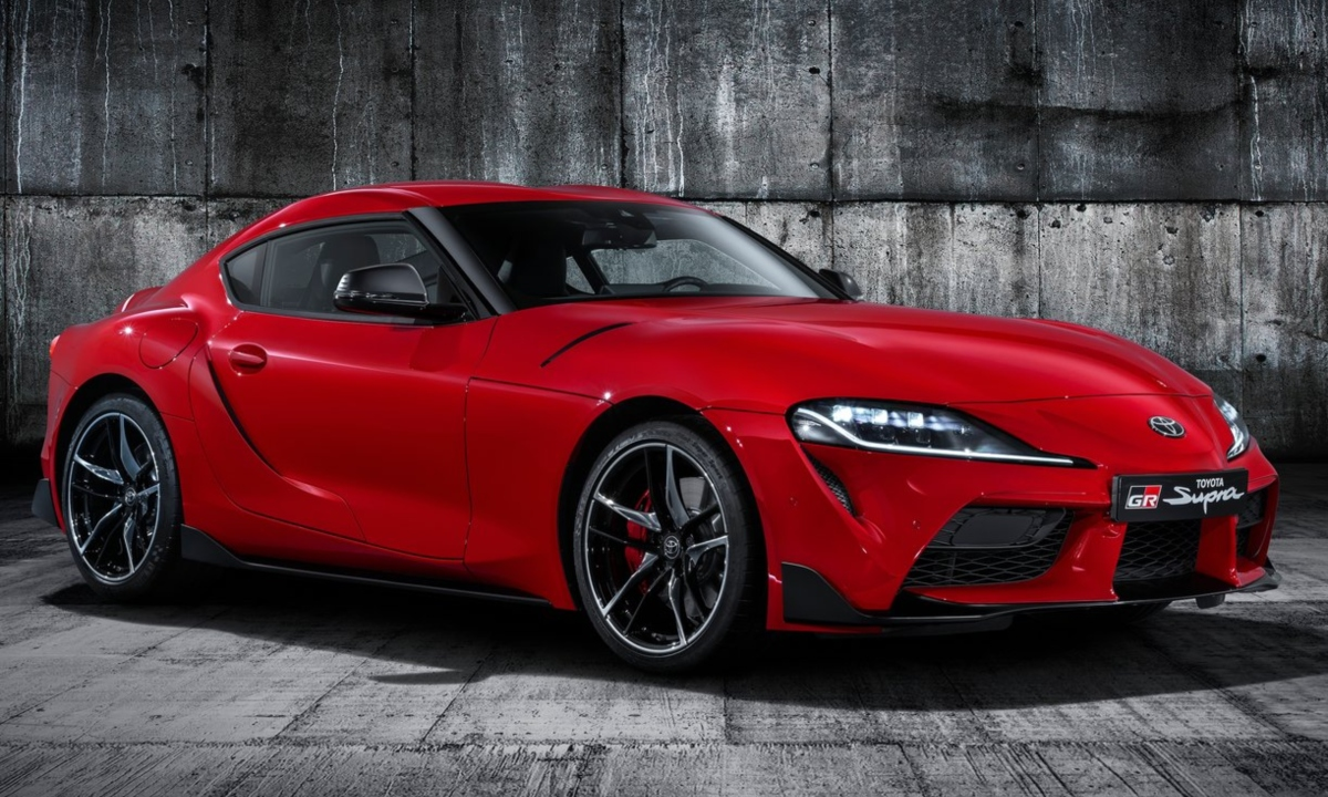 New Toyota Supra Red Sports, front